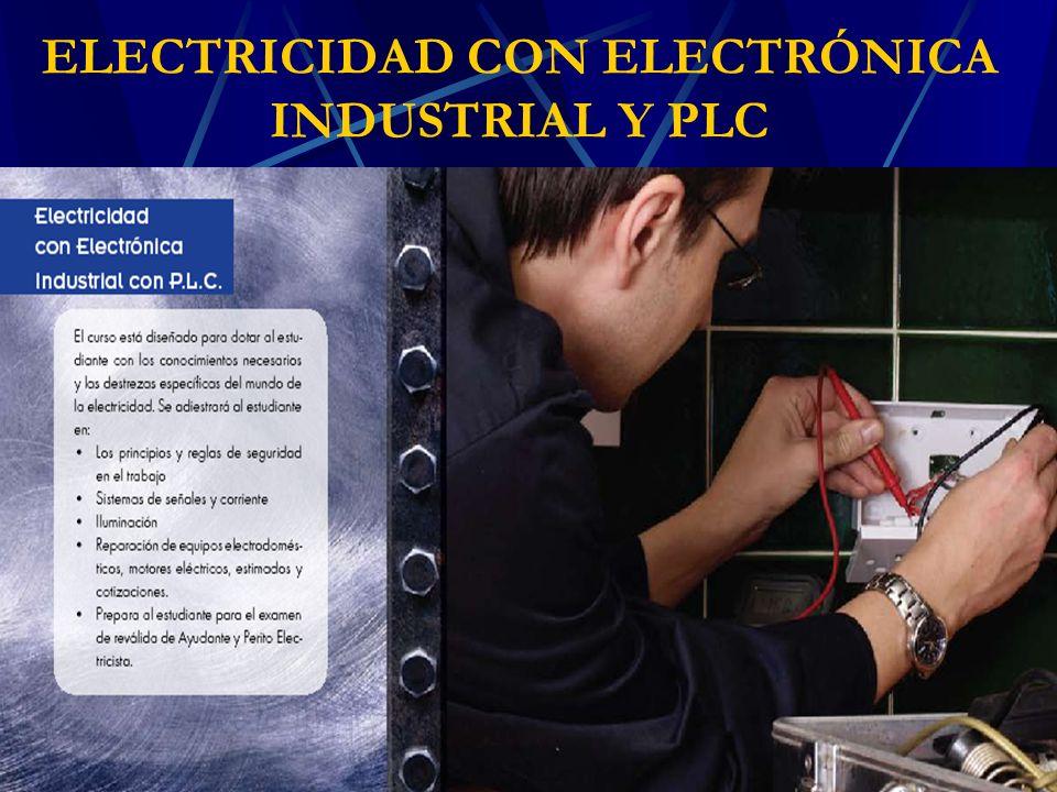 ELECTRICIDAD CON ELECTRÓNICA INDUSTRIAL Y PLC