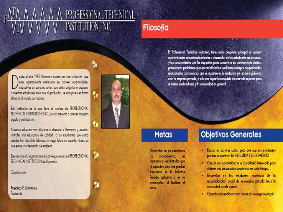 PROGRAMAS QUE OFRECE PROFESSIONAL TECHNICAL INSTITUTION