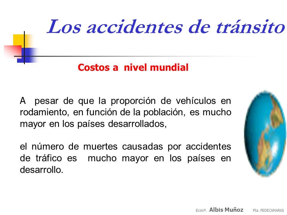 Econª. Albis Muñoz Pta. FEDECAMARAS Los accidentes de tránsito CASO VENEZUELA Semana Mayor 2004 Causas del incremento Poco respeto por las señales de