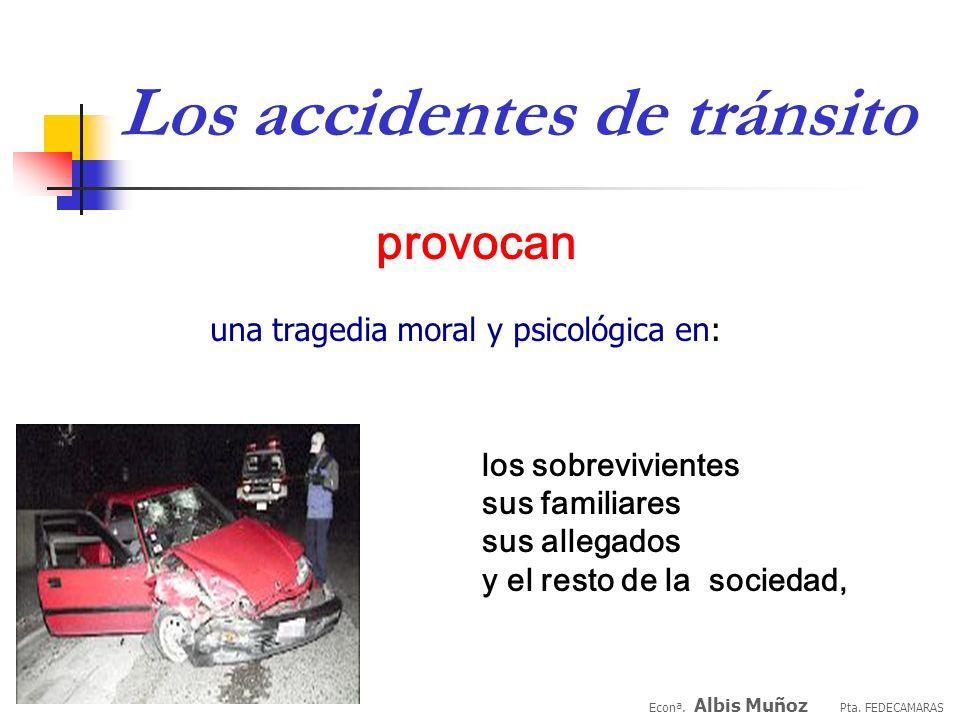 Los accidentes de tránsito provocan los sobrevivientes sus familiares sus allegados y el resto de la sociedad, una tragedia moral y psicológica en: Econª.