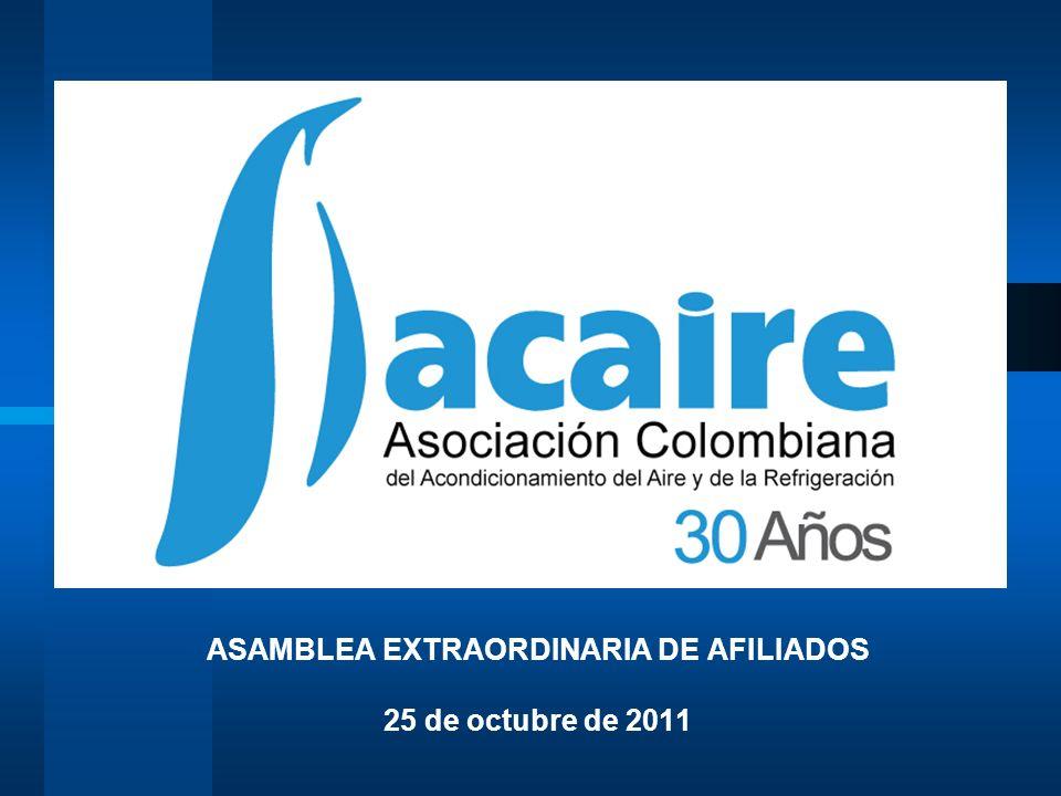 ASAMBLEA EXTRAORDINARIA DE AFILIADOS 25 de octubre de 2011