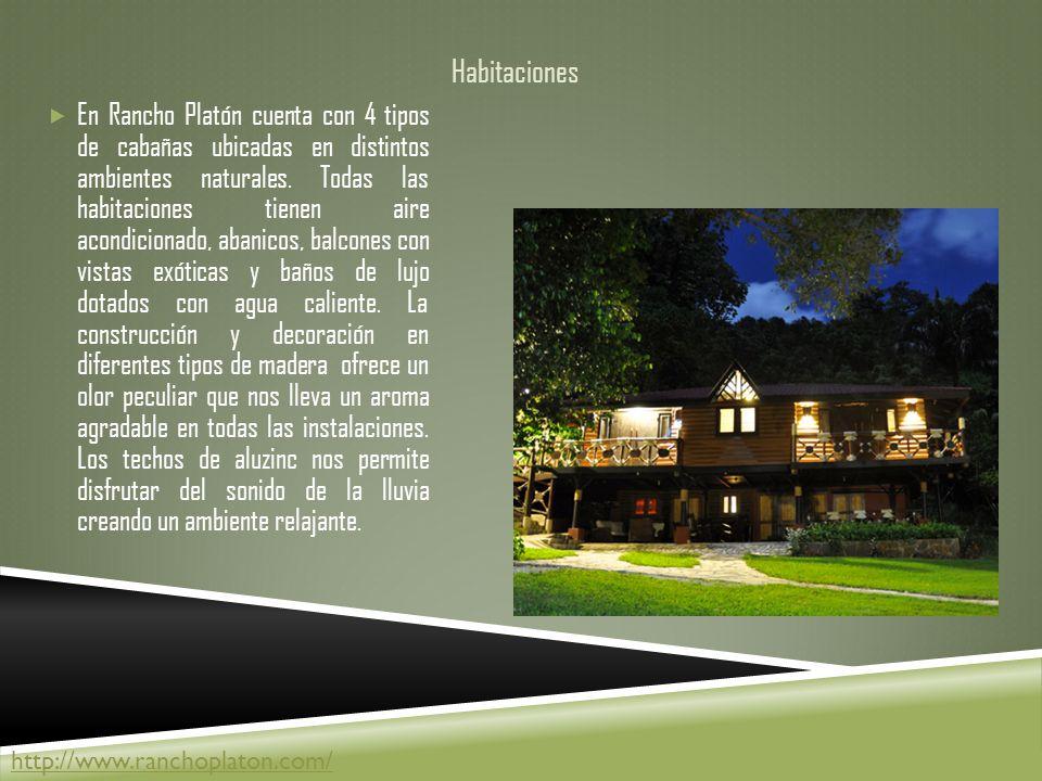 Habitaciones En Rancho Platón cuenta con 4 tipos de cabañas ubicadas en distintos ambientes naturales.