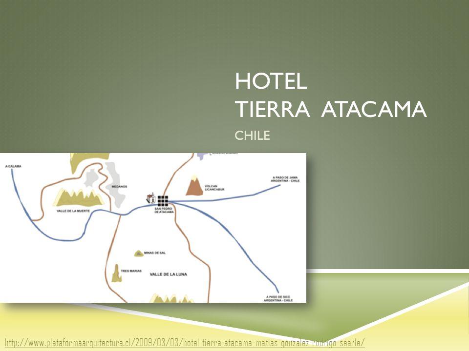 HOTEL TIERRA ATACAMA CHILE http://www.plataformaarquitectura.cl/2009/03/03/hotel-tierra-atacama-matias-gonzalez-rodrigo-searle/