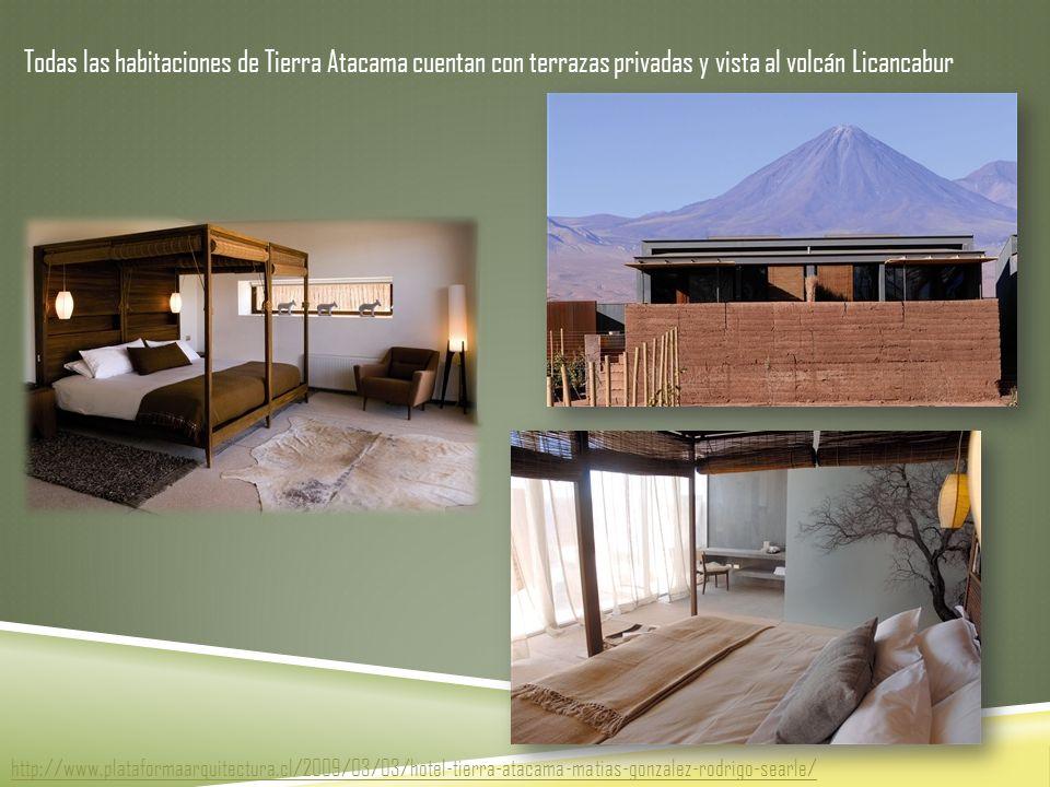 Todas las habitaciones de Tierra Atacama cuentan con terrazas privadas y vista al volcán Licancabur http://www.plataformaarquitectura.cl/2009/03/03/hotel-tierra-atacama-matias-gonzalez-rodrigo-searle/