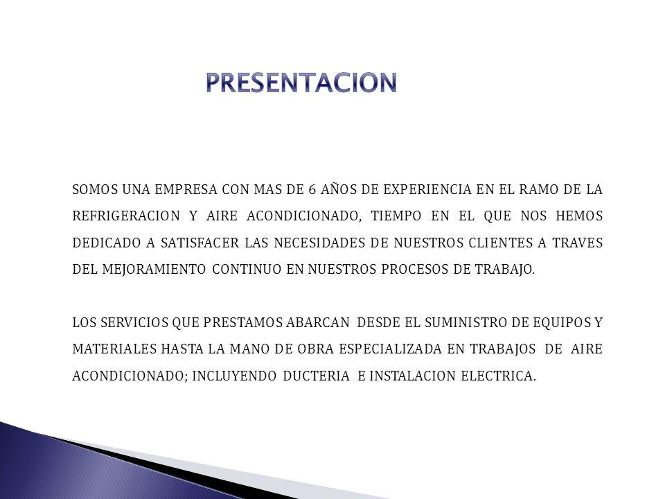 RAZON SOCIAL: RAFAEL RAMIREZ CABRERA NOMBRE COMERCIAL: CENTRO ESPECIALIZADO DE REFRIGERACION Y AIRE ACONDICIONADO GIRO COMERCIAL: SERVICIOS DE REFRIGERACION Y AIRE ACONDICIONADO;INCLUYE, SUMINISTRO DE PARTES, EQUIPOS, INSTALACION, FABRICACION DE DUCTOS,AISLANTES TERMICOS, MANTENIMIENTOS PREVENTIVO Y CORRECTIVO.