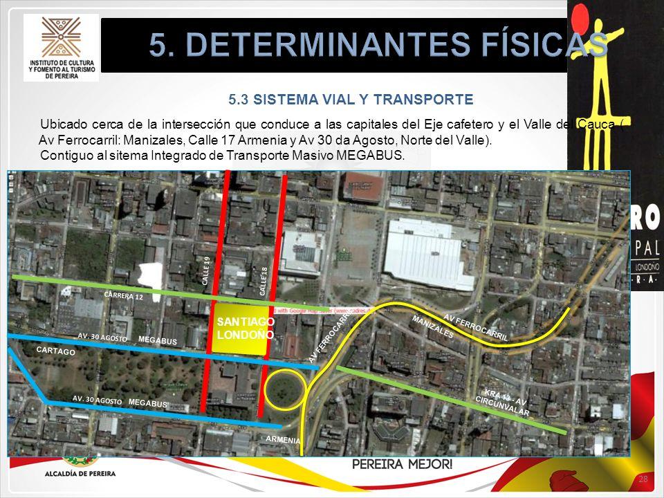 28 5.3 SISTEMA VIAL Y TRANSPORTE Ubicado cerca de la intersección que conduce a las capitales del Eje cafetero y el Valle del Cauca ( Av Ferrocarril: