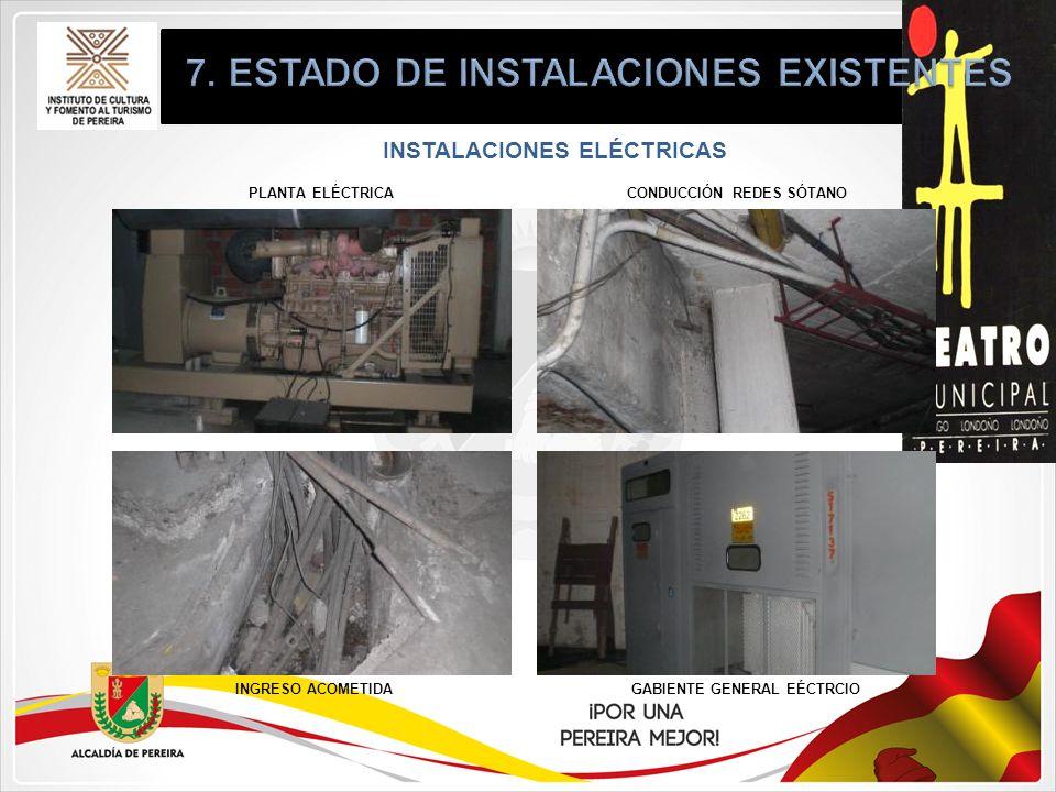 INSTALACIONES ELÉCTRICAS PLANTA ELÉCTRICA INGRESO ACOMETIDAGABIENTE GENERAL EÉCTRCIO CONDUCCIÓN REDES SÓTANO