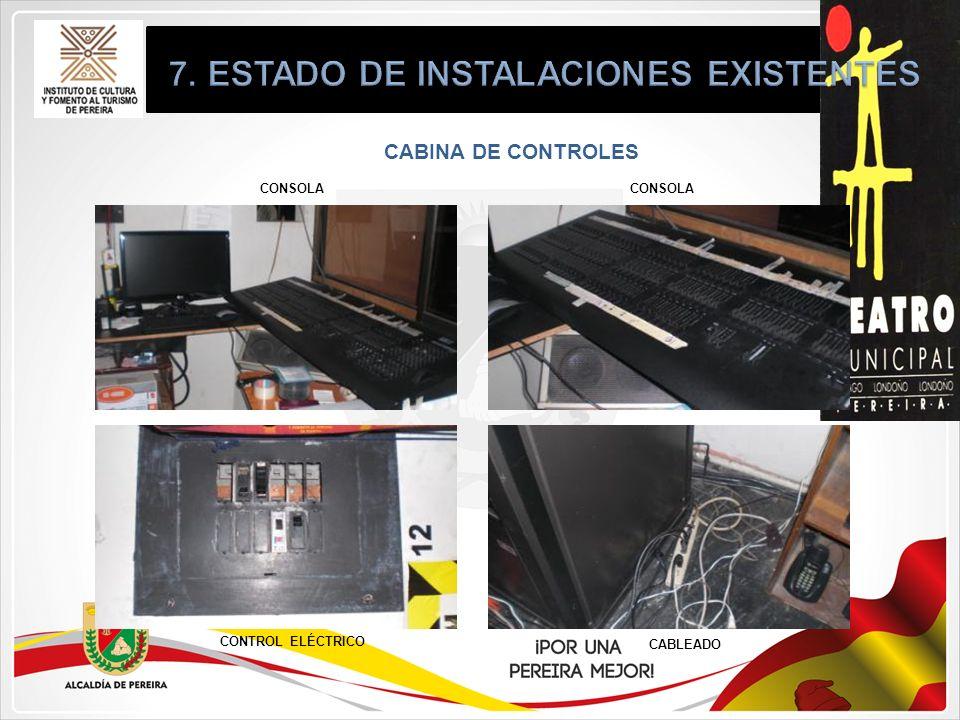 CABINA DE CONTROLES CONSOLA CONTROL ELÉCTRICO CABLEADO CONSOLA