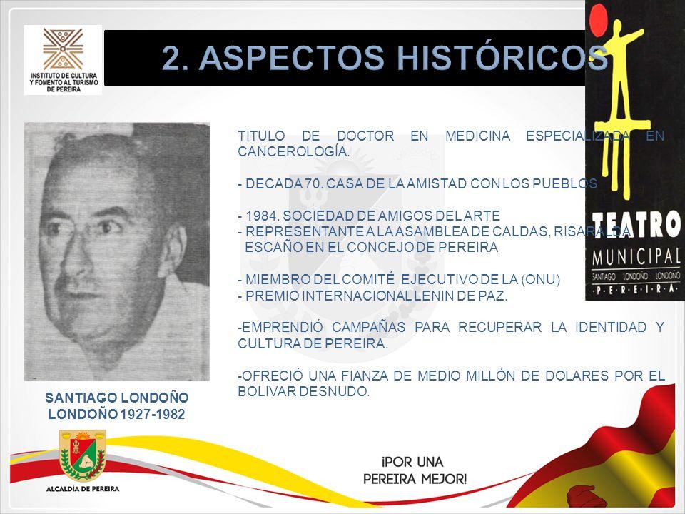 SANTIAGO LONDOÑO LONDOÑO 1927-1982 TITULO DE DOCTOR EN MEDICINA ESPECIALIZADA EN CANCEROLOGÍA. - DECADA 70. CASA DE LA AMISTAD CON LOS PUEBLOS - 1984.