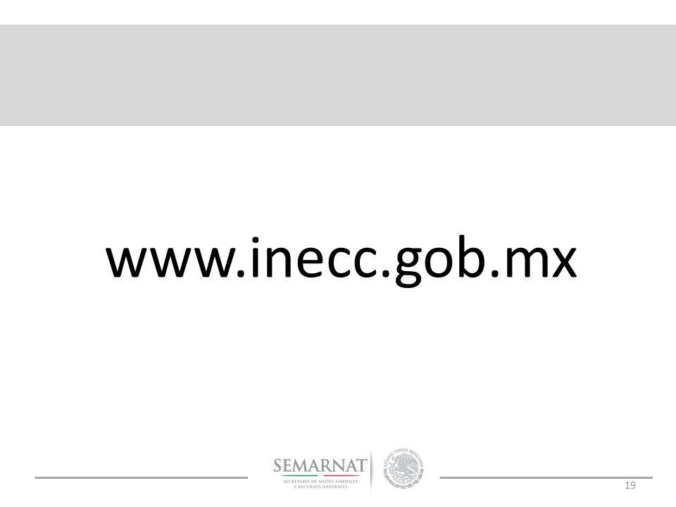 19 www.inecc.gob.mx