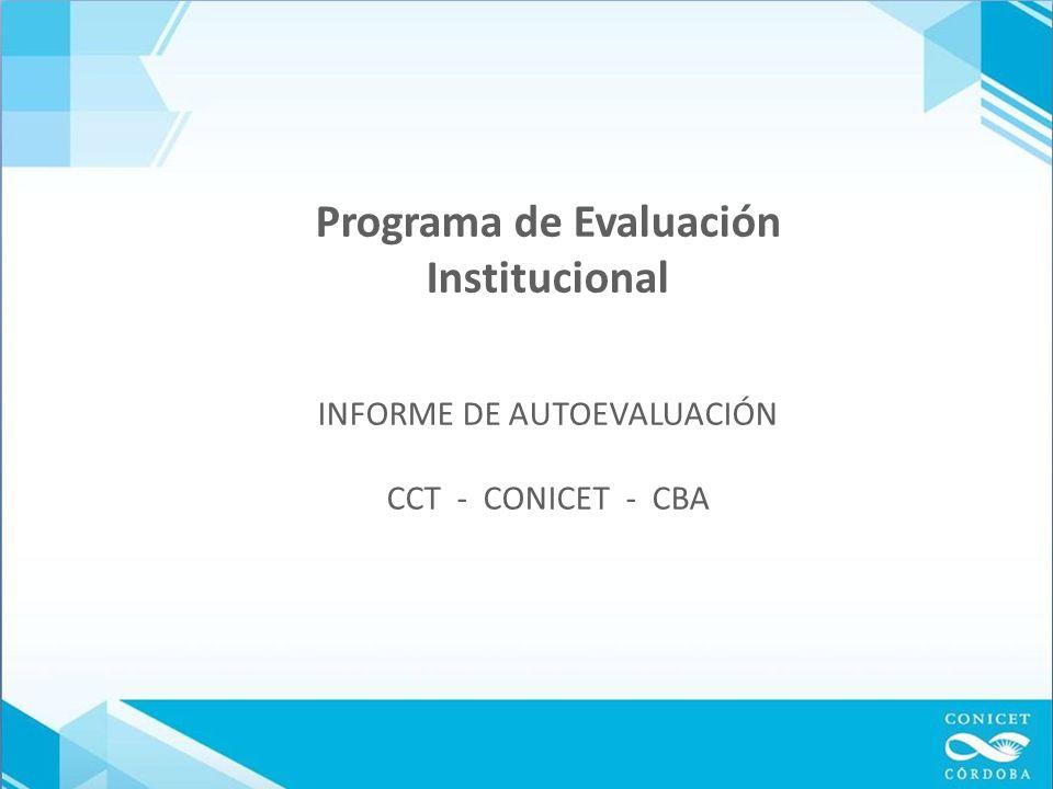 Proceso de Autoevaluación Comité Técnico Mixto Selección de consultores - Conformar Comisión de Autoevaluación - Supervisar instrumentos - Vínculo entre instituciones Comisión de Autoevaluación Por áreas disciplinares miembros UE, no UE y uno de UNRC.