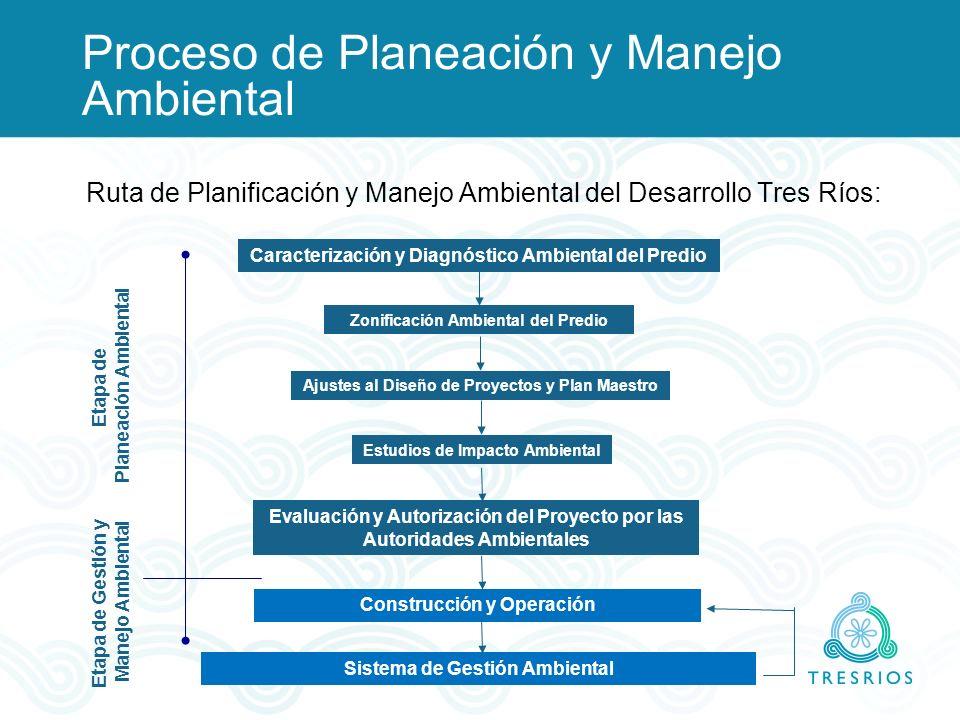 Caracterización y Diagnóstico Ambiental del Predio Zonificación Ambiental del Predio Ajustes al Diseño de Proyectos y Plan Maestro Estudios de Impacto