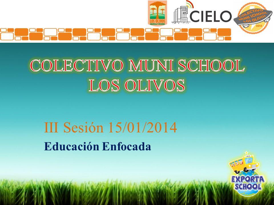III Sesión 15/01/2014 Educación Enfocada