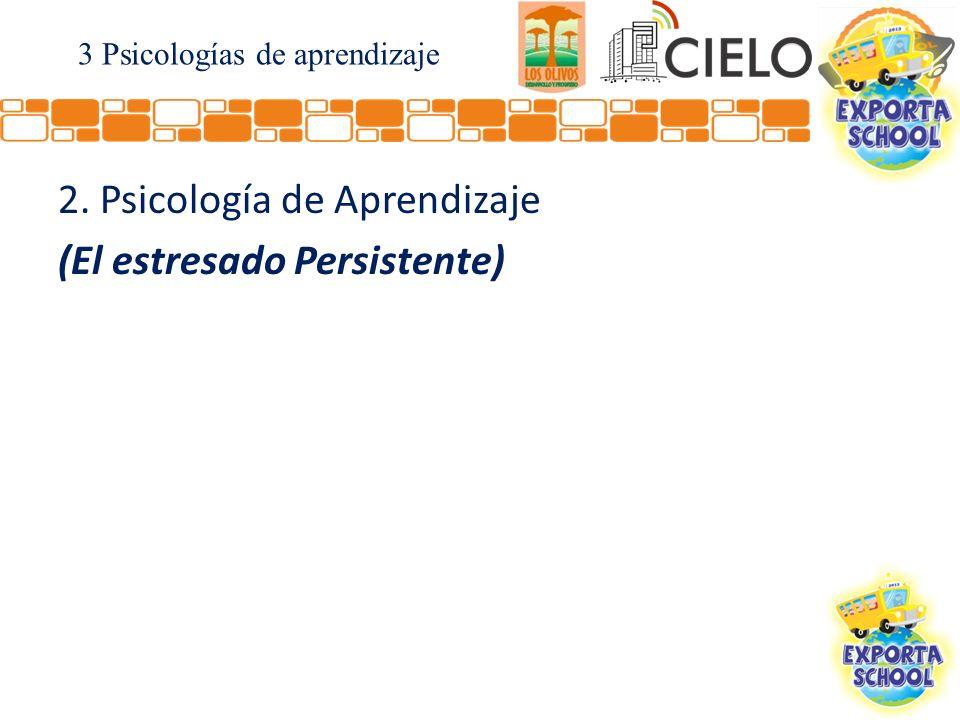 2. Psicología de Aprendizaje (El estresado Persistente) 3 Psicologías de aprendizaje