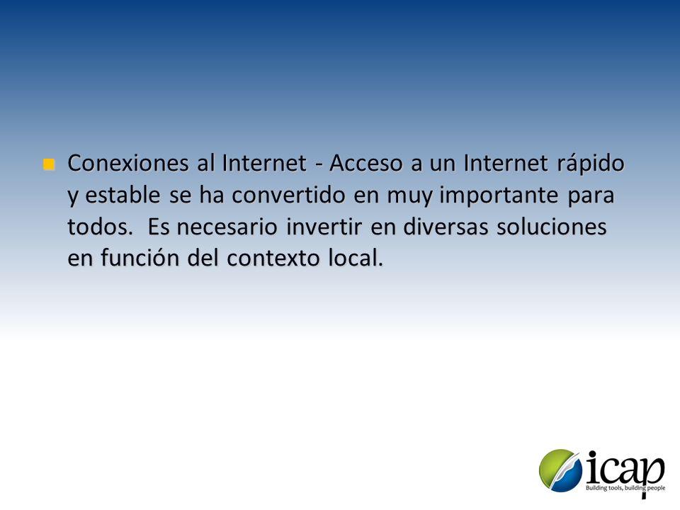 Conexiones al Internet - Acceso a un Internet rápido y estable se ha convertido en muy importante para todos. Es necesario invertir en diversas soluci