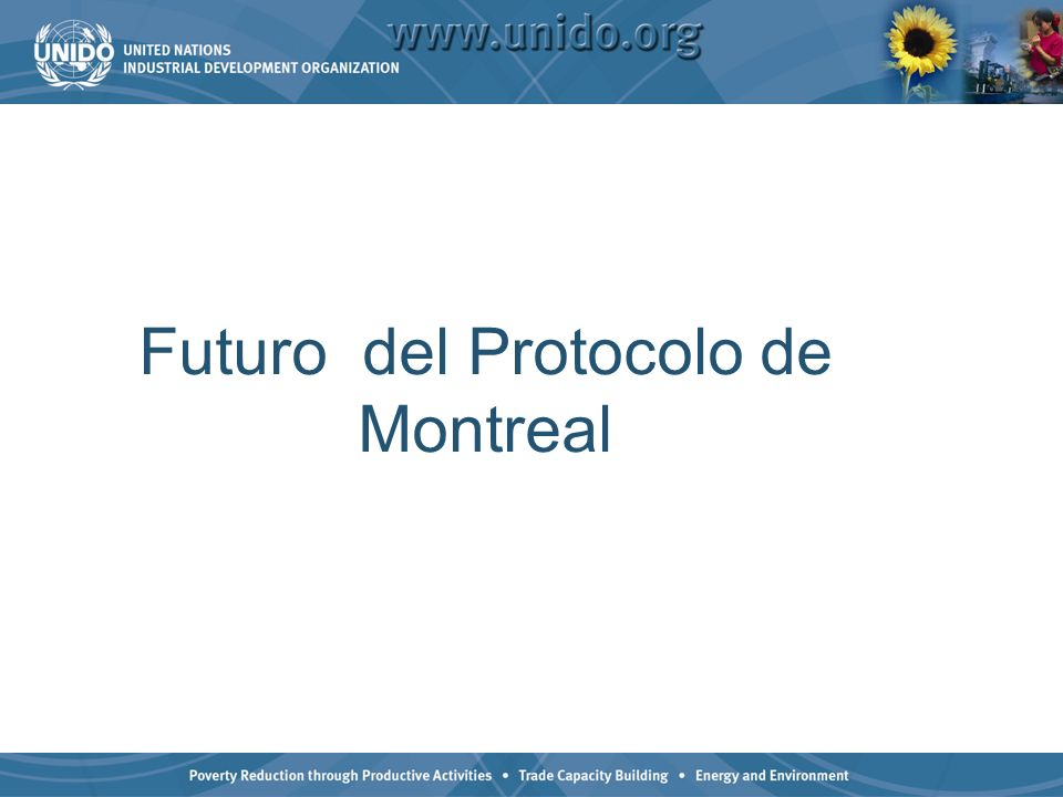 Futuro del Protocolo de Montreal
