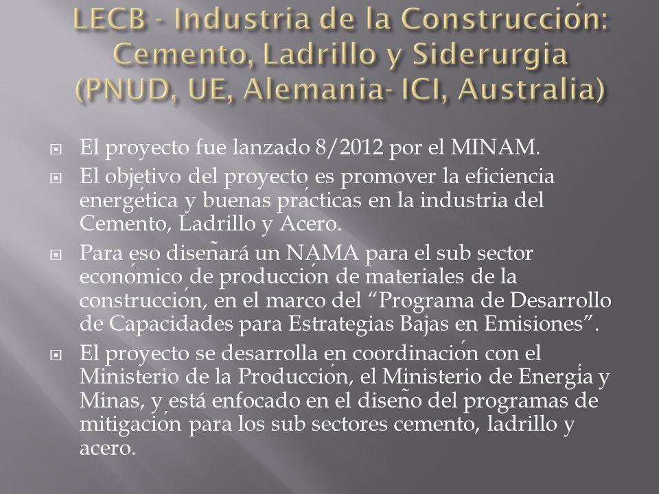 El proyecto fue lanzado 8/2012 por el MINAM.
