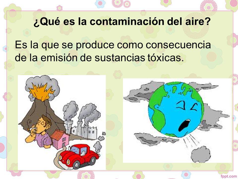 Fuentes de la contaminación del aire