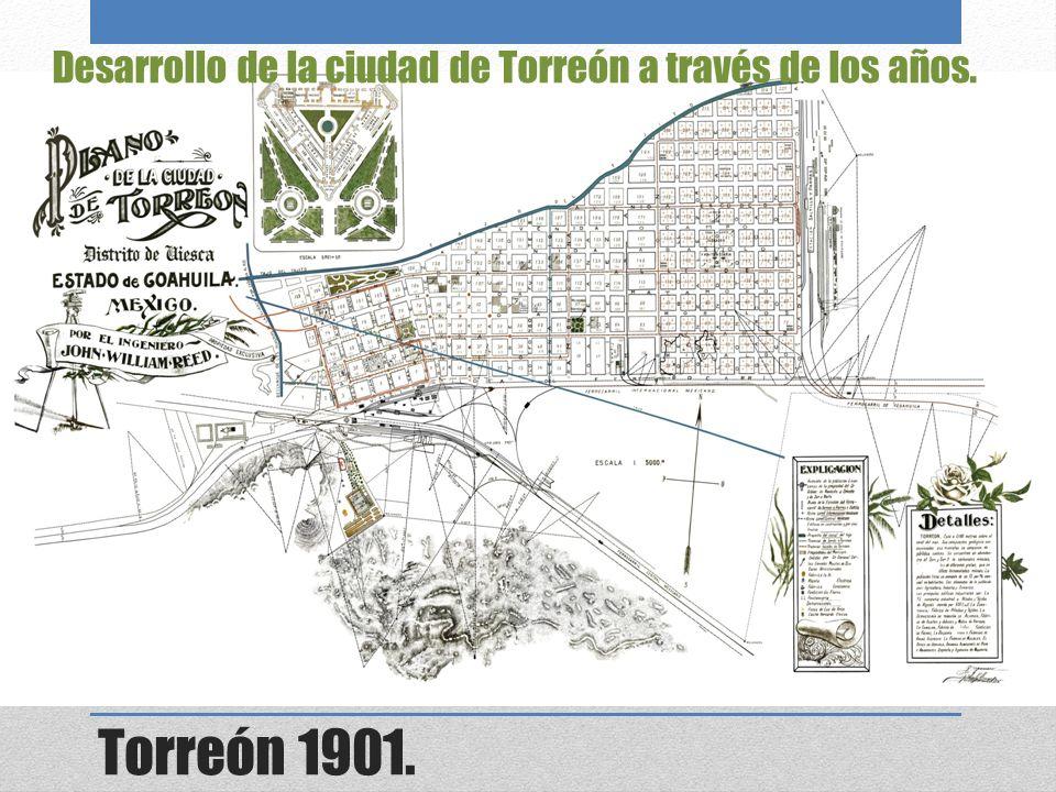 Torreón 1901. Desarrollo de la ciudad de Torreón a través de los años.