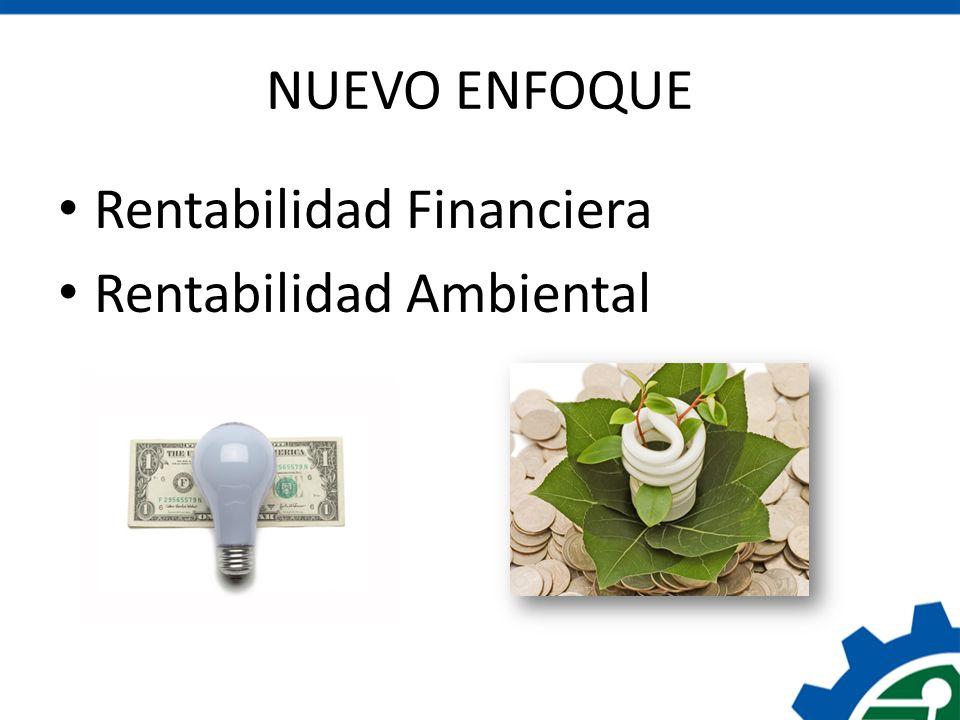 NUEVO ENFOQUE Rentabilidad Financiera Rentabilidad Ambiental