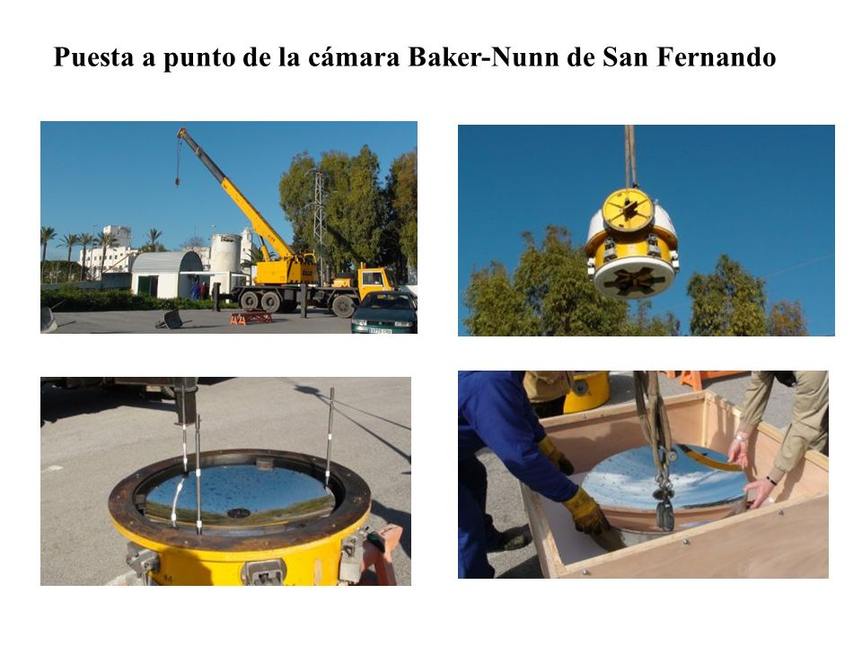 Puesta a punto de la cámara Baker-Nunn de San Fernando
