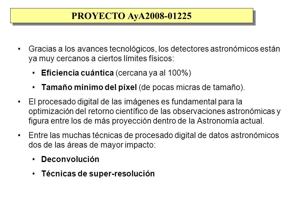 Resultados del proyecto hasta la fecha: Varias de las publicaciones (aplicación a ocultaciones lunares) se basan en la obtención de los siguientes periodos de observación: Telescopio 10.4m GTC (ORM).