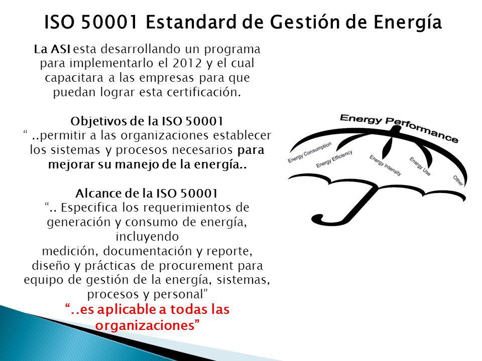 La ASI esta desarrollando un programa para implementarlo el 2012 y el cual capacitara a las empresas para que puedan lograr esta certificación.