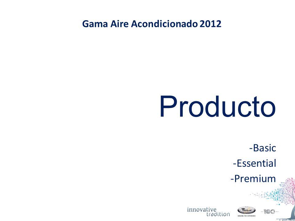 Gama Aire Acondicionado 2012 Producto -Basic -Essential -Premium