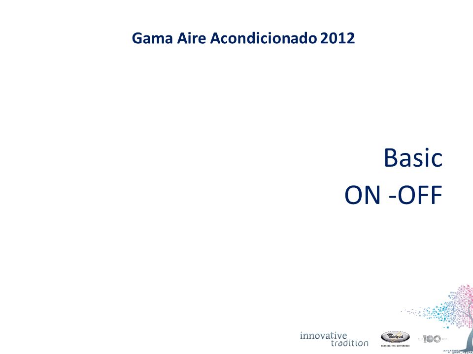 Gama Aire Acondicionado 2012 Basic ON -OFF