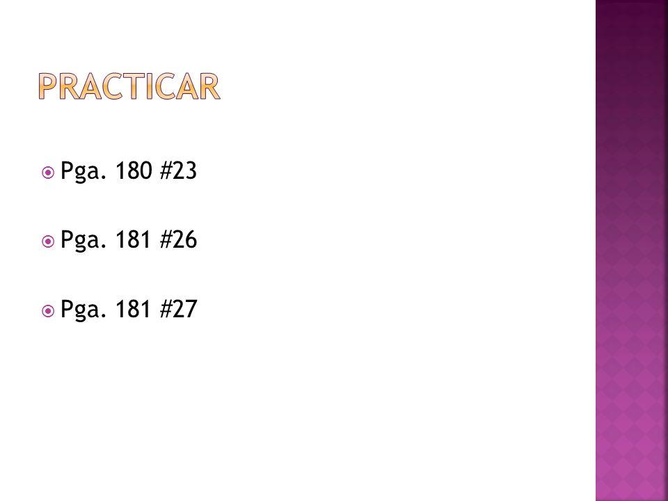 Pga. 180 #23 Pga. 181 #26 Pga. 181 #27