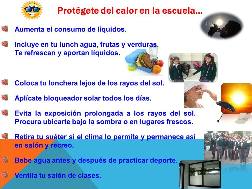 Protégete del calor en la escuela…