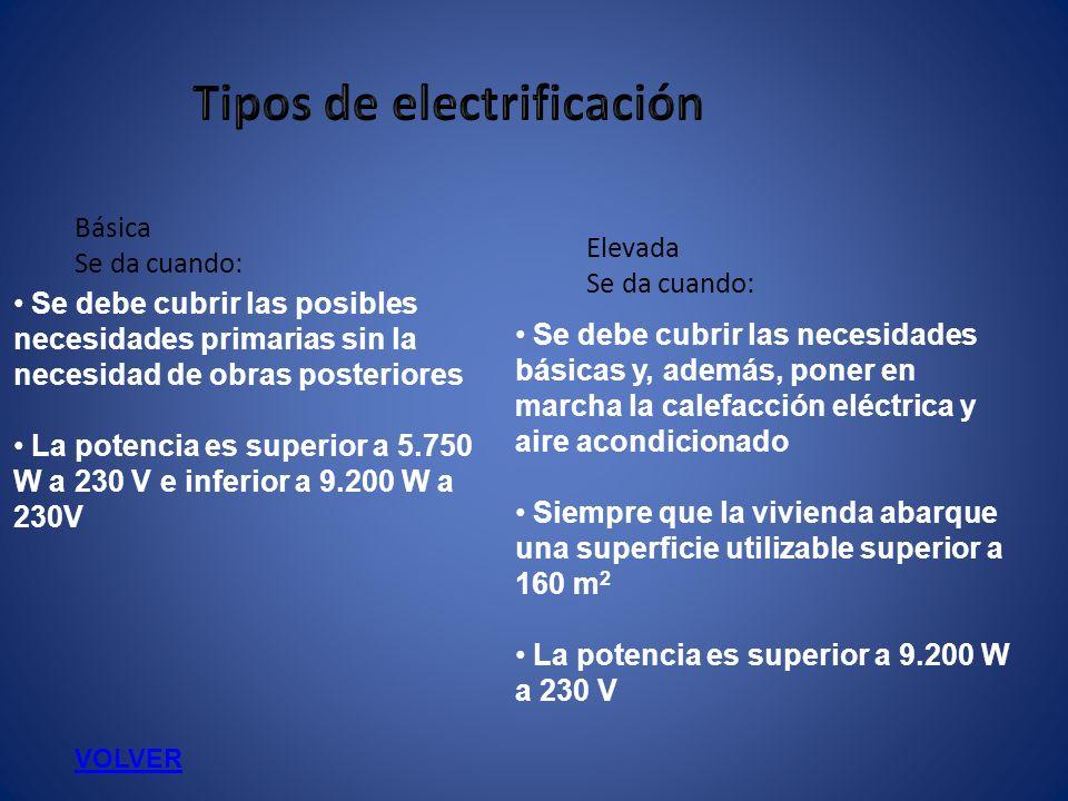 Se debe cubrir las posibles necesidades primarias sin la necesidad de obras posteriores La potencia es superior a 5.750 W a 230 V e inferior a 9.200 W