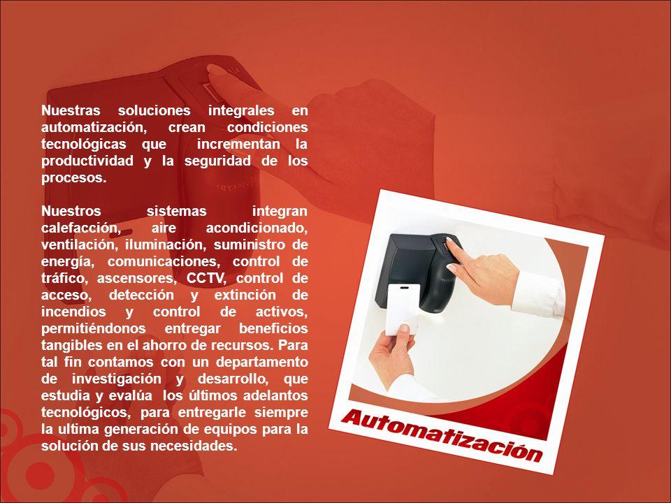 Nuestras soluciones integrales en automatización, crean condiciones tecnológicas que incrementan la productividad y la seguridad de los procesos.