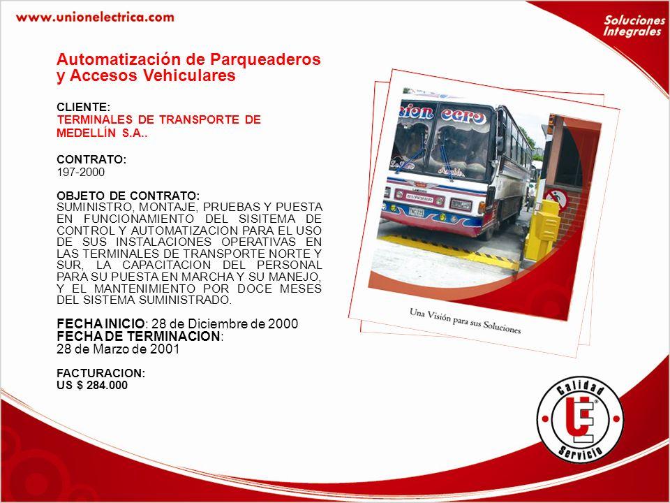 CLIENTE: TERMINALES DE TRANSPORTE DE MEDELLÍN S.A..