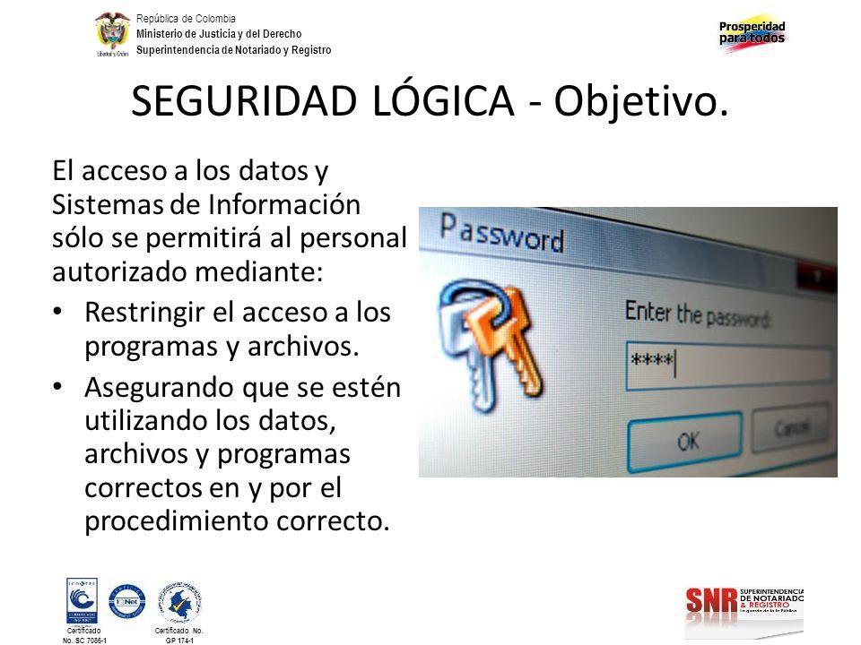 República de Colombia Ministerio de Justicia y del Derecho Superintendencia de Notariado y Registro Certificado No. SC 7086-1 Certificado No. GP 174-1