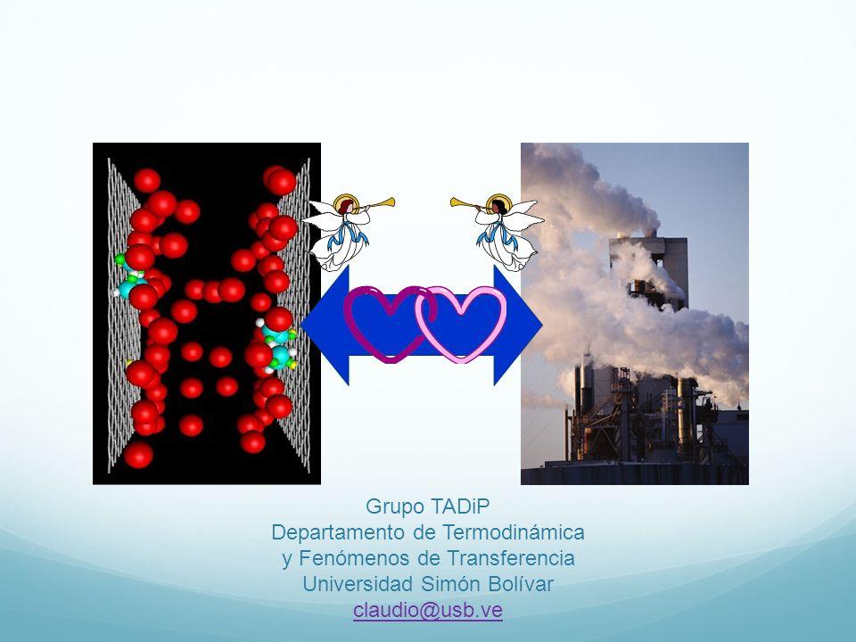 Grupo TADiP Departamento de Termodinámica y Fenómenos de Transferencia Universidad Simón Bolívar claudio@usb.ve