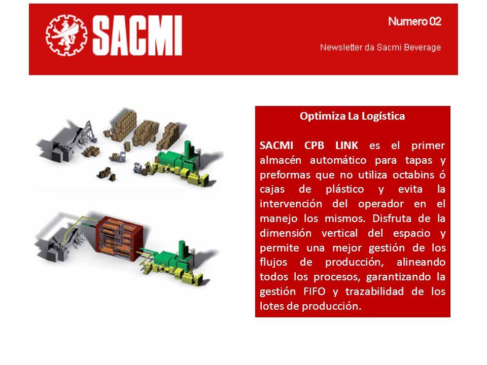 Optimiza La Logística SACMI CPB LINK es el primer almacén automático para tapas y preformas que no utiliza octabins ó cajas de plástico y evita la int