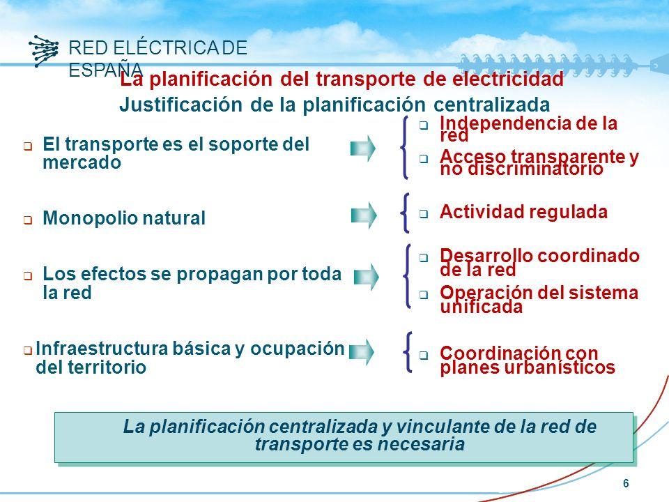 RED ELÉCTRICA DE ESPAÑA 27 Conclusiones sobre redes alta tensión Refuerzo del mallado de la RdT Reducción pérdidas de transporte Reducción generación acoplada Refuerzo interconexiones internacionales Mayor competencia en el mercado Aumento seguridad del sistema Reducción de emisiones contaminantes Reducción coste de la energía Mayor capacidad transporte Aumento de la integración de energía renovable