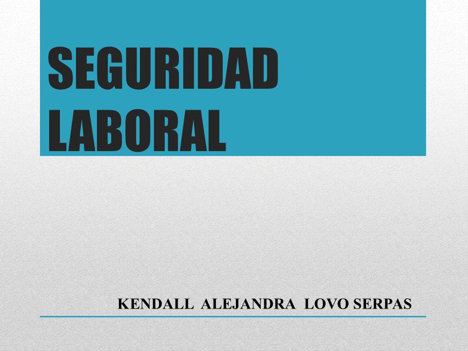SEGURIDAD LABORAL KENDALL ALEJANDRA LOVO SERPAS