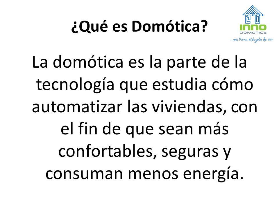 ¿Qué es Domótica.