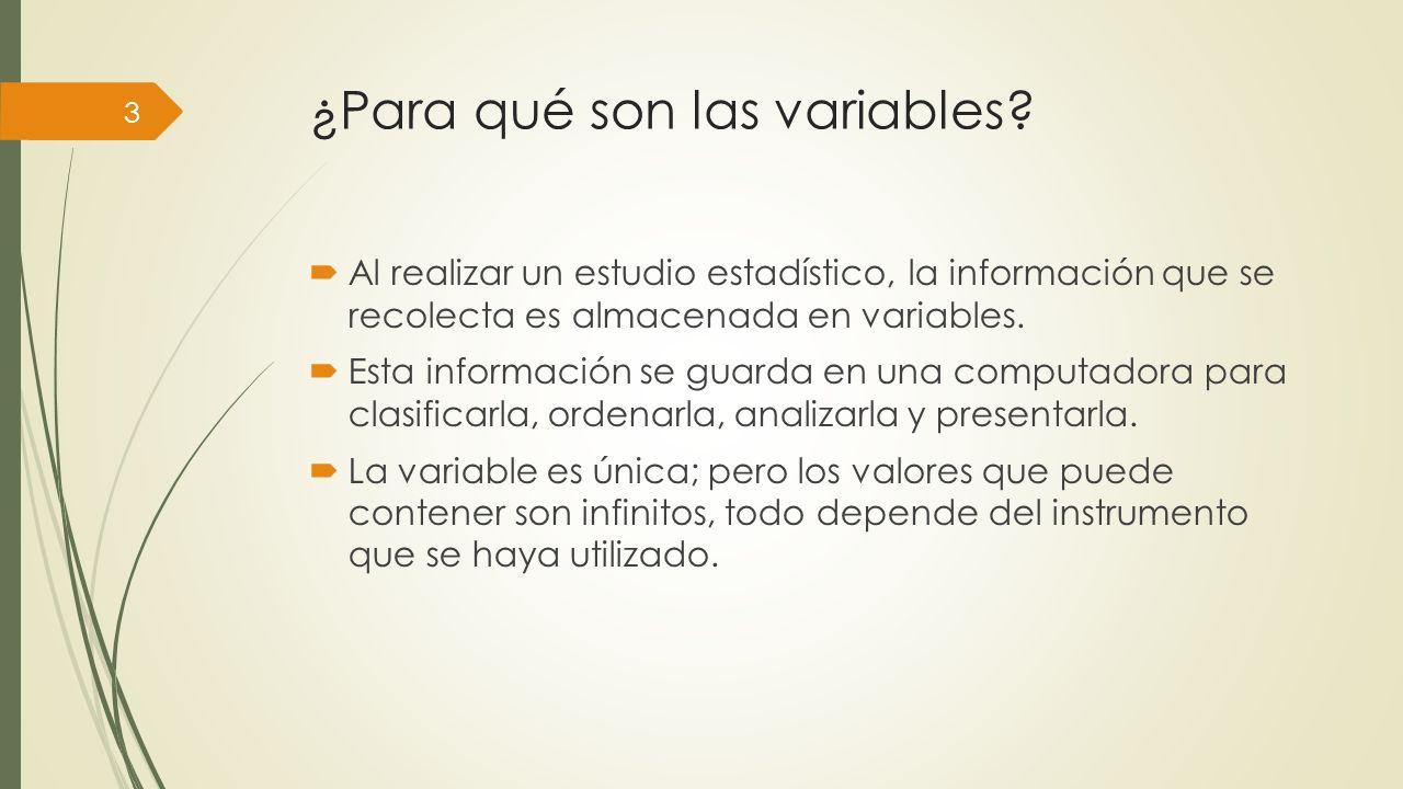 ¿Para qué son las variables.