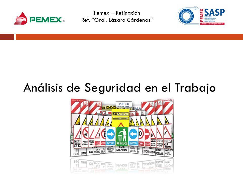 Pemex – Refinación Ref. Gral. Lázaro Cárdenas Análisis de Seguridad en el Trabajo