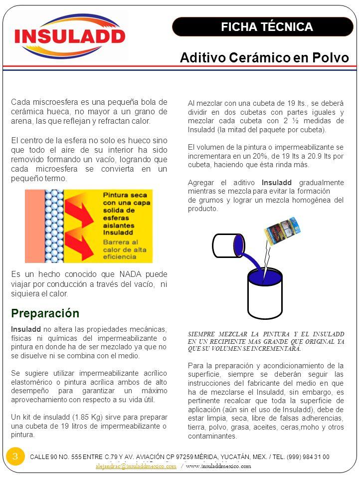 CALLE 90 NO. 555 ENTRE C.79 Y AV. AVIACIÓN CP 97259 MÉRIDA, YUCATÁN, MEX. / TEL. (999) 984 31 00 contacto.insuladd@gmail.com / www.insuladdmexico.com