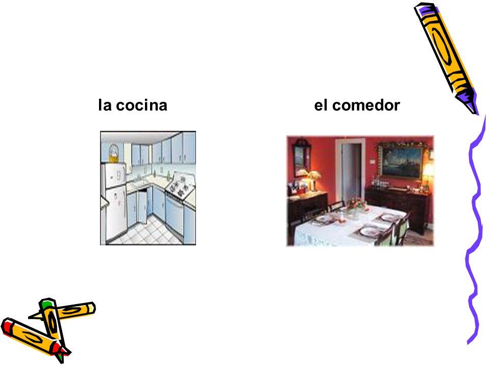 la cocinael comedor