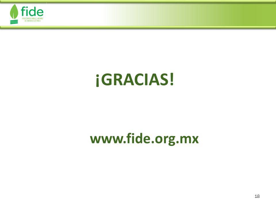 18 ¡GRACIAS! www.fide.org.mx