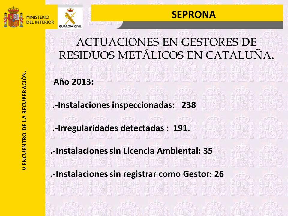 SEPRONA V ENCUENTRO DE LA RECUPERACIÓN.