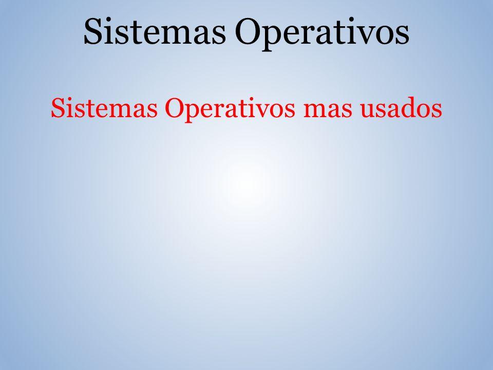 Sistemas Operativos Sistemas Operativos mas usados