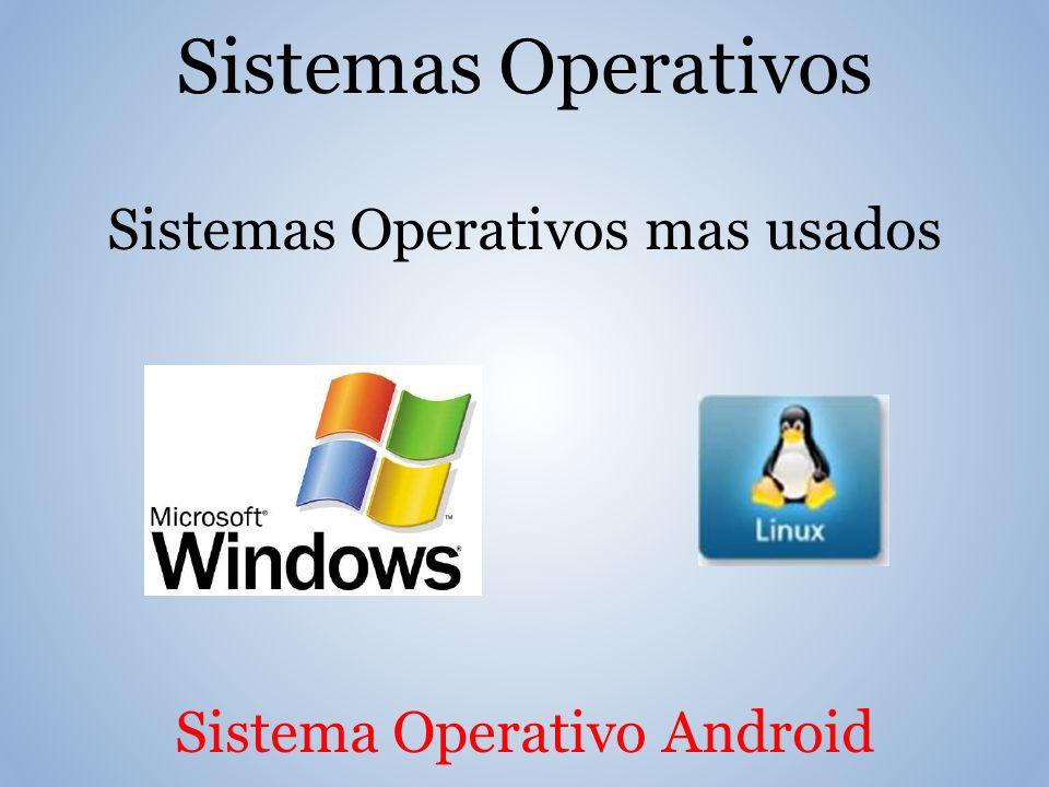 Sistemas Operativos Sistemas Operativos mas usados Sistema Operativo Android