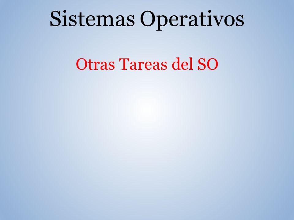 Sistemas Operativos Otras Tareas del SO