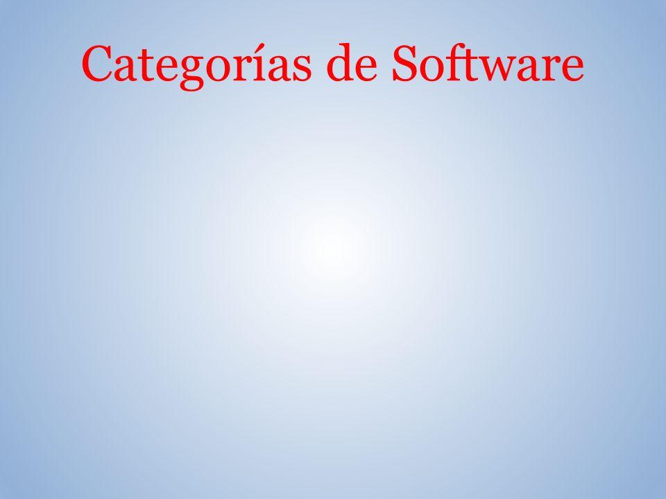 Categorías de Software